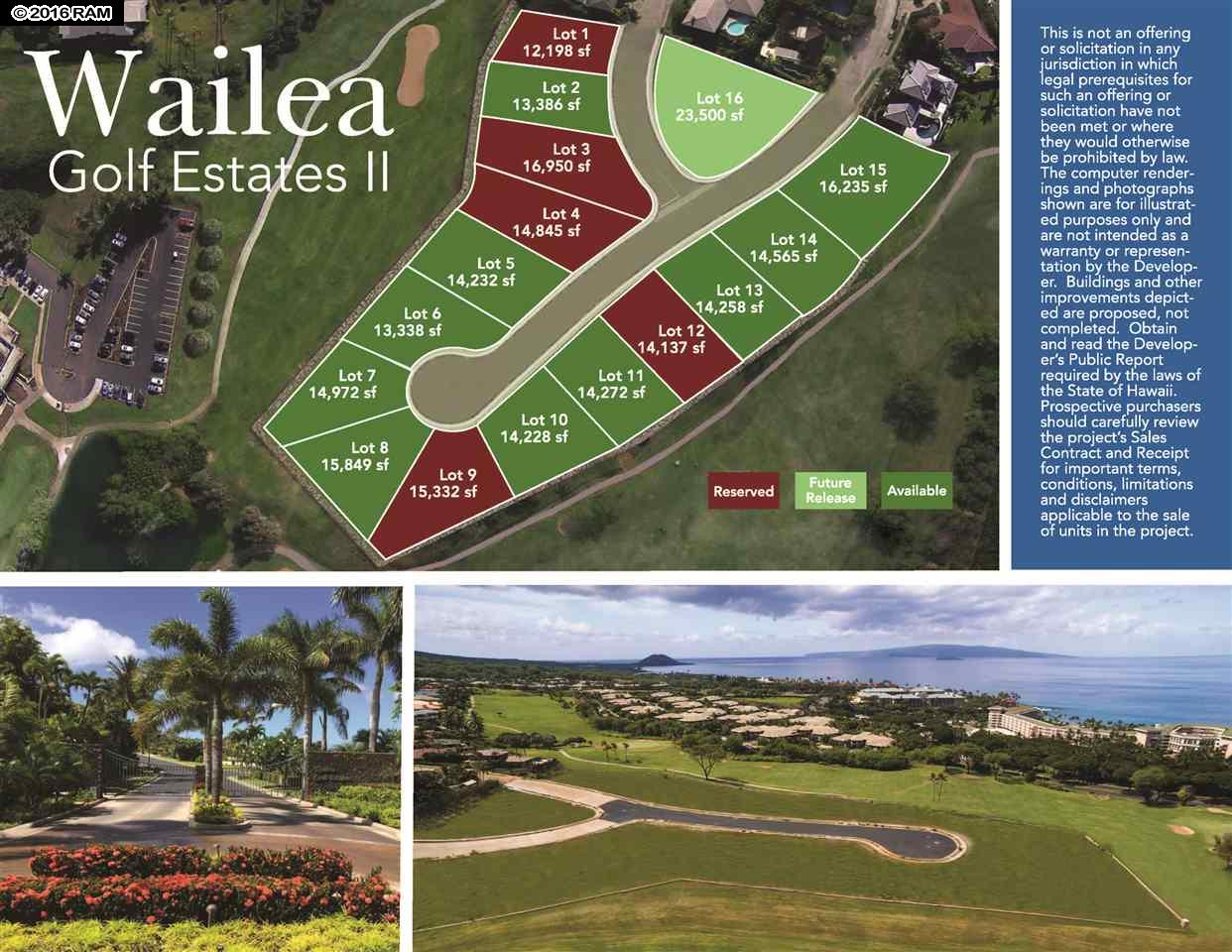 0 Halau Pl  Lot #Lot 6 in Wailea Golf Estates II